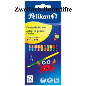 12-700146, PELIKAN Zweifarb-Buntstifte Bicolor, 12er Set, 24 Farben