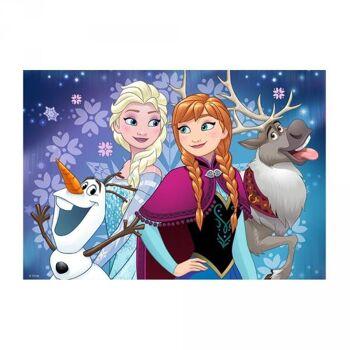 """Disney Frozen / Die Eiskönigin - 2x24 Teile Puzzle """"Nordlichter"""""""
