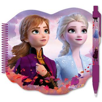 Disney Frozen 2 / Die Eiskönigin 2 - Spiral Notizbuch mit Stift