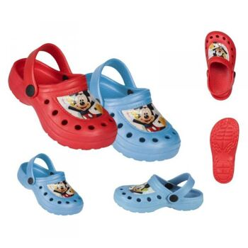 Mickey Mouse - Clogs - 4er Set (rot)
