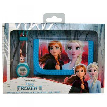 Disney Frozen 2 / Die Eiskönigin 2 - Armbanduhr und Geldbörse Geschenkset
