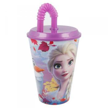 Disney Frozen 2 / Die Eiskönigin 2 -  Trinkbecher mit Strohhalm