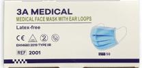 Medizinische OP Masken, Mundschutz, Typ IIR, / 2R, EN 14683, europäischer Testbericht, Lagerware