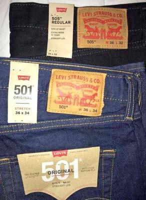 LEVIS Jeans Mix Herren Damen Neuware Restposten Lagerverkauf