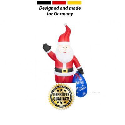 Weihnachtsmann mit Gebläse und Geschenkesack XXL Version 210 cm Sonderposten