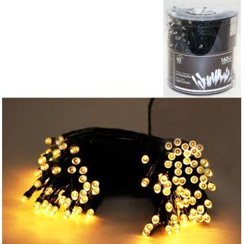 12-22057, Lichterkette LED 160er, warm weiß, für innen und außen geeignet+++++++
