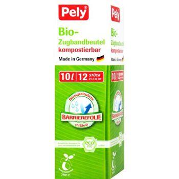 Pely Biofolien Müllbeutel mit Zugband Rolle 10l