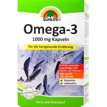 Sunlife Omega-3 Fettsäuren 1000 mg