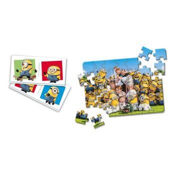 Minions - Edukit 2 in 1 - Domino und Puzzle