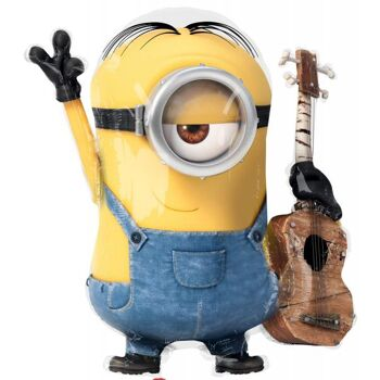 """Folienballon """"Minions Stuart Gitarre"""" Shape"""