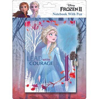 Disney Frozen 2 / Die Eiskönigin 2 - Notizbuch zum Verschließen, mit Plüschstift