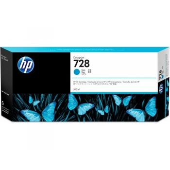 HP 728 300-ml Cyan Tintenpatrone F9K17A