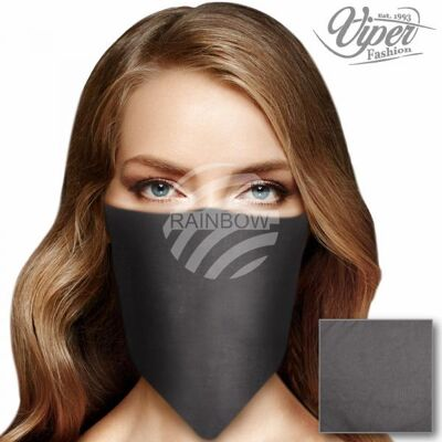 Bandana Kopftuch Halstuch unifarben grau