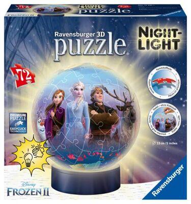 Ravensburger 11141 - Disney Frozen 2 / Die Eiskönigin 2 - 72 Teile 3D Puzzle - Nachtlicht
