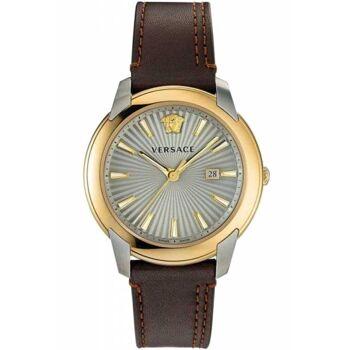 Versace Uhr Uhren Herrenuhr VELQ00219 V-Urban Leder braun