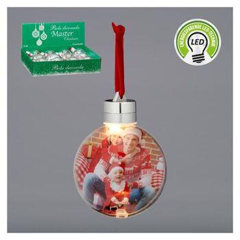 Christbaumkugel, LED, ca. 8cm Weihnachten Sonderposten