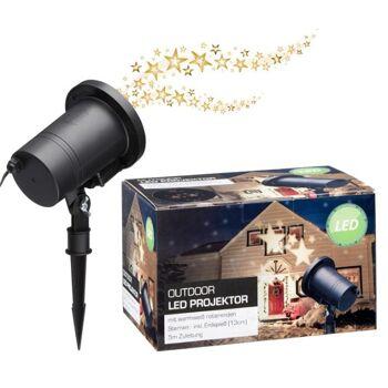 LED Projektor, warmweiße Sterne, Weihnachten Sonderposten