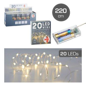 Lichterkette Mikro, TIMER, 20 LED, 220cm, Weihnachten Sonderposten