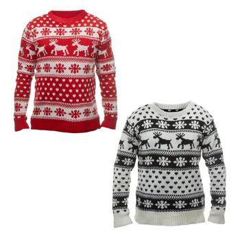 Pullover Ugly Christmas Rentier, Unisex, 2/s, Weihnachten Sonderposten