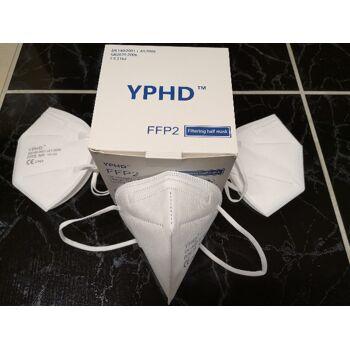 YPHD faltbare Atemschutzmaske FFP2 | CE2163 (EN 149) | Europäisches Zertifikat | Lagerware