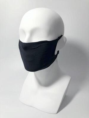 Stoffmasken / Community Masken in schwarz & weiß, mit Farbtest der DERKA - je 10 Stk. pro VE