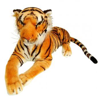 10-122030, MEGA grosser Tiger 210 cm, braun, Plüschtier, Raubtier, Zootier, Wildtier, Kuscheltier