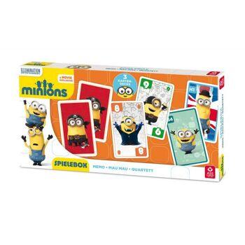 Minions - Spielebox 3 in 1 (Memo - Mau Mau - Quartett)