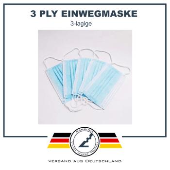 RAN-SM-06-001- Einwegmasken, Mundschutz 3-lagig, Vlies