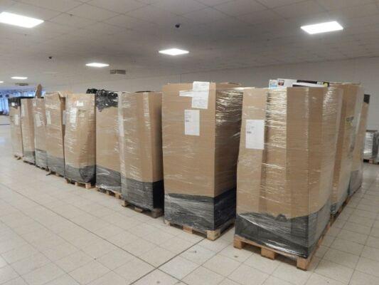 27 Paletten Autowaren Möbeln und mehr 947 Teile Kundenretoure von Amazon 43.431 €