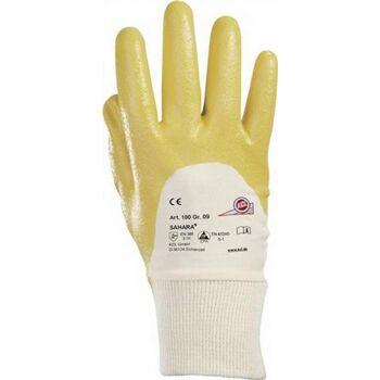 Handschuhe Sahara 100 Gr.10 gelb Nitril L.250mm KCL mit Strickbund, 10 Paar