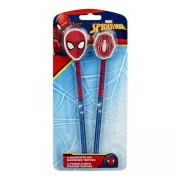Spider - Man - 2 Bleistifte mit Radierertopper