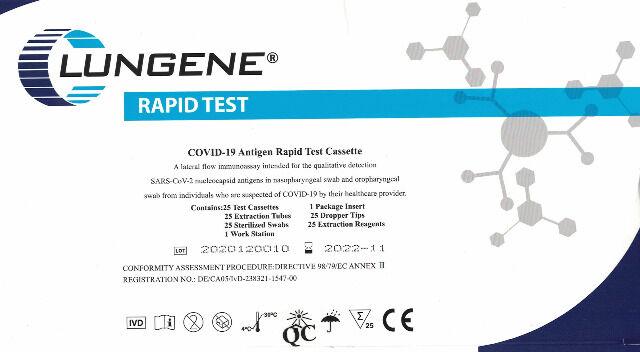 Schnelltest - CLUNGENE Covid-19 Antigen-Schnelltest. Test..