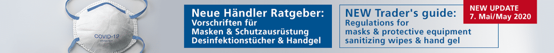 Händler Ratgeber - Vorschriften für Masken und Schutzausrüstung