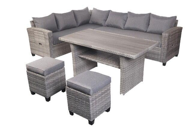 Garten-Sitzgruppe Lounge-Set Rattan