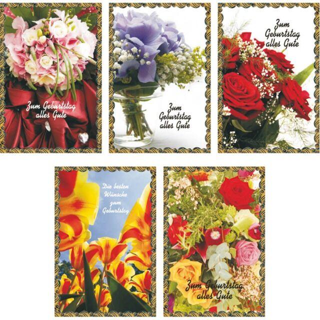 Karten Geburtstag mit Blumen Geburtstagskarten Glückwunschkarten