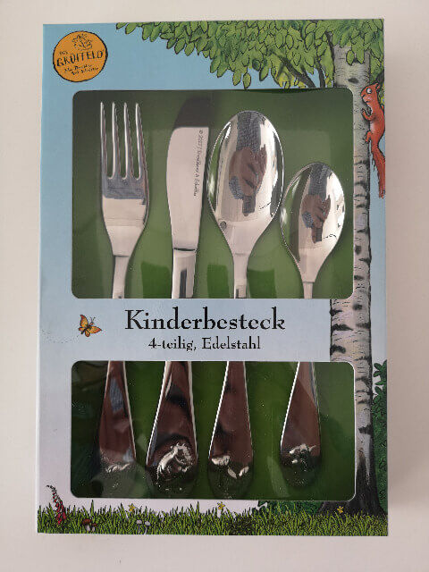 Der Grüffelo 4tlg. Kinderbesteck Edelstahl Gabel Messer 2x Löffel