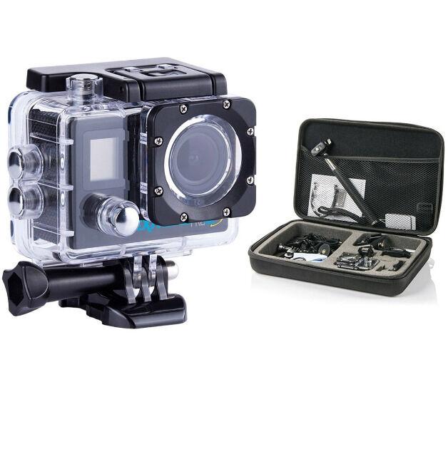 GOCLEVER DVR EXTREME 4Ks Professional Set WLAN 4K Action Cam Outdoor Kamera Actioncam Filmen Aufnehmen Video