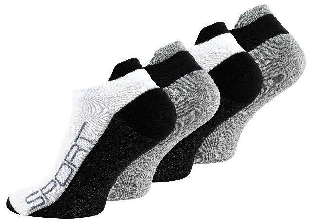 Zweifarbige Herren Sneaker-Socken mit Hochferse