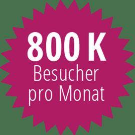800K Visitors per Month