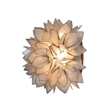 """Muschel-Deckenleuchte """"Flowery"""" d:25cm"""