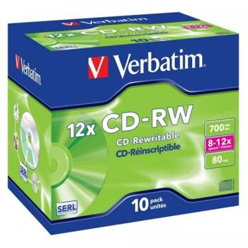 CD-RW 80 Verbatim 12x 10er Jewel Case 43148