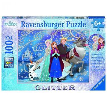 """Frozen/ Die Eiskönigin - XXL 100 Teile Puzzle """"Glitzernder Schnee"""" mit Glitter"""