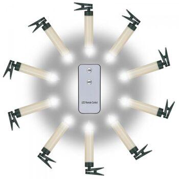 Kabbellose LED - Kerzen 10er Set kompakt
