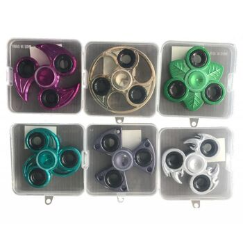 Fidget Spinner Metall ABS Chrome -sortiert, versch. Farben und Größen