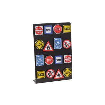 Magnet Warnschild Tafel 8-fach sortiert 4x6cm