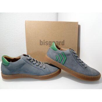 Bisgaard Leder Sneaker Antracit ( grau/grün) 33107.118 Gr.35